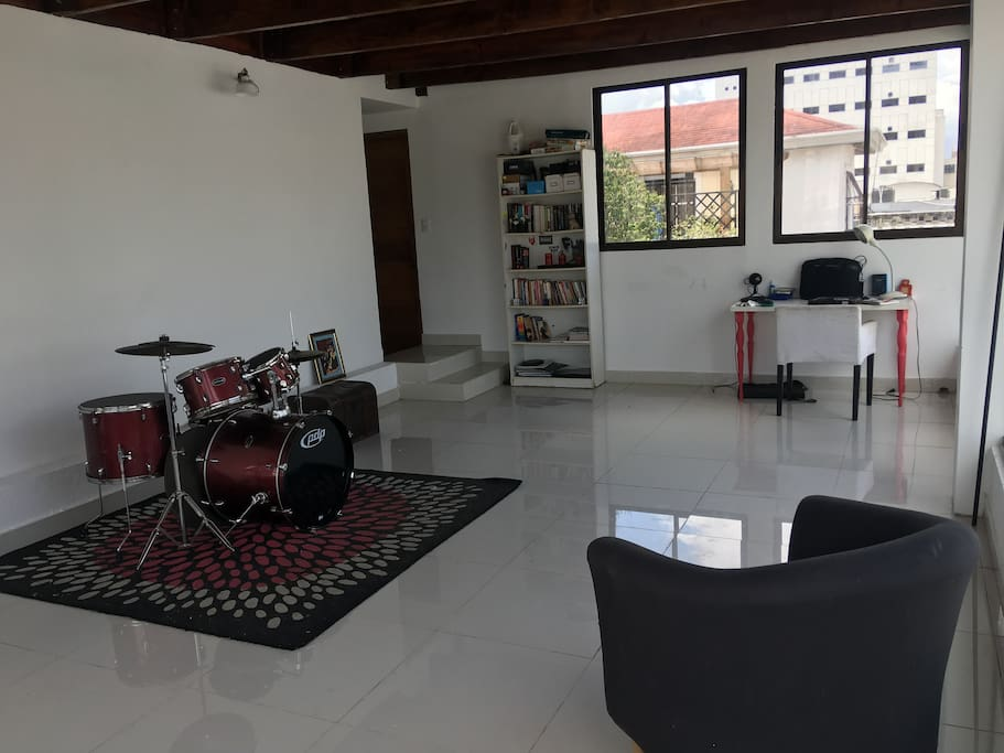 Drumset and library available for use