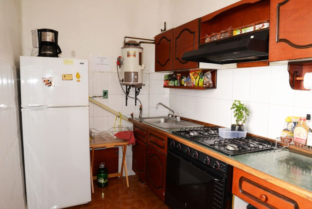 The kitchen, very comfortable and luminous