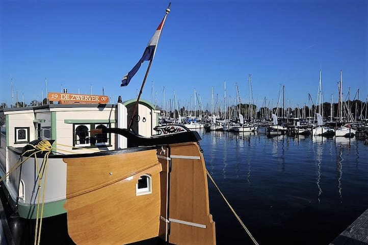 The oldest houseboat of the netherlands