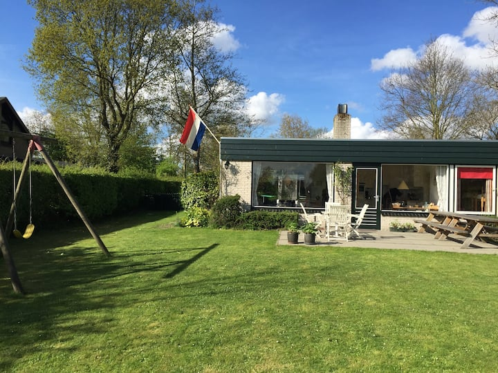"""Kreek Krak is a detached holiday home situated on one of the creeks of lake """"Veerse Meer"""""""