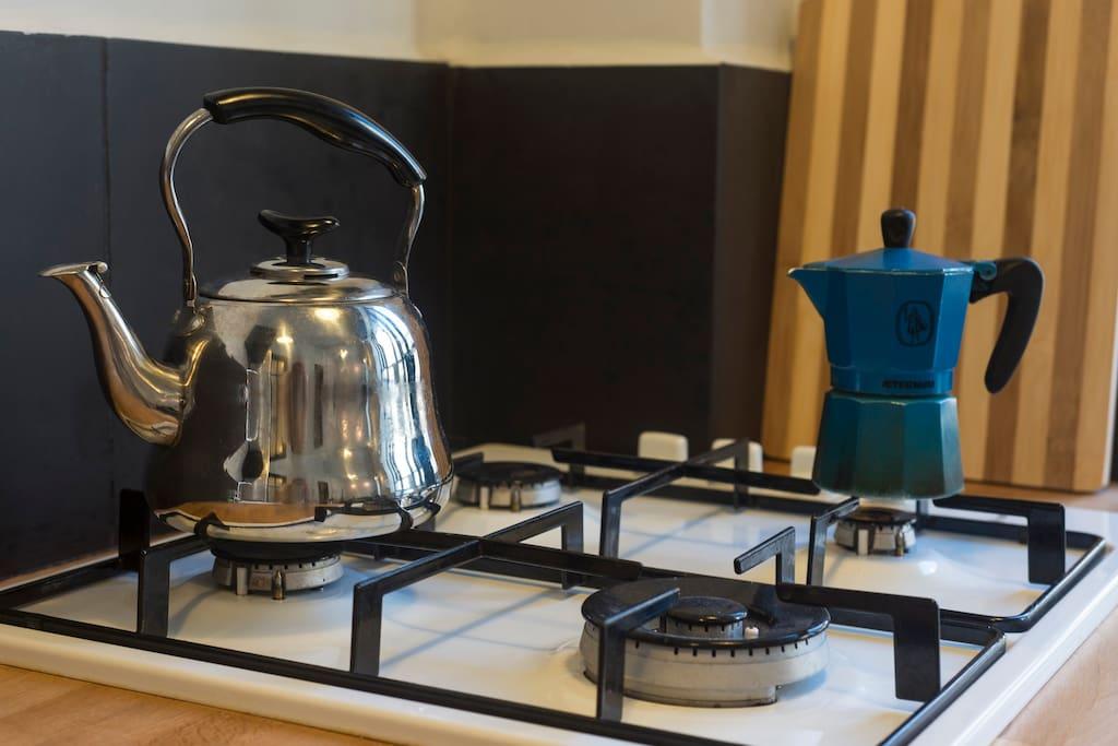 Gas stove top