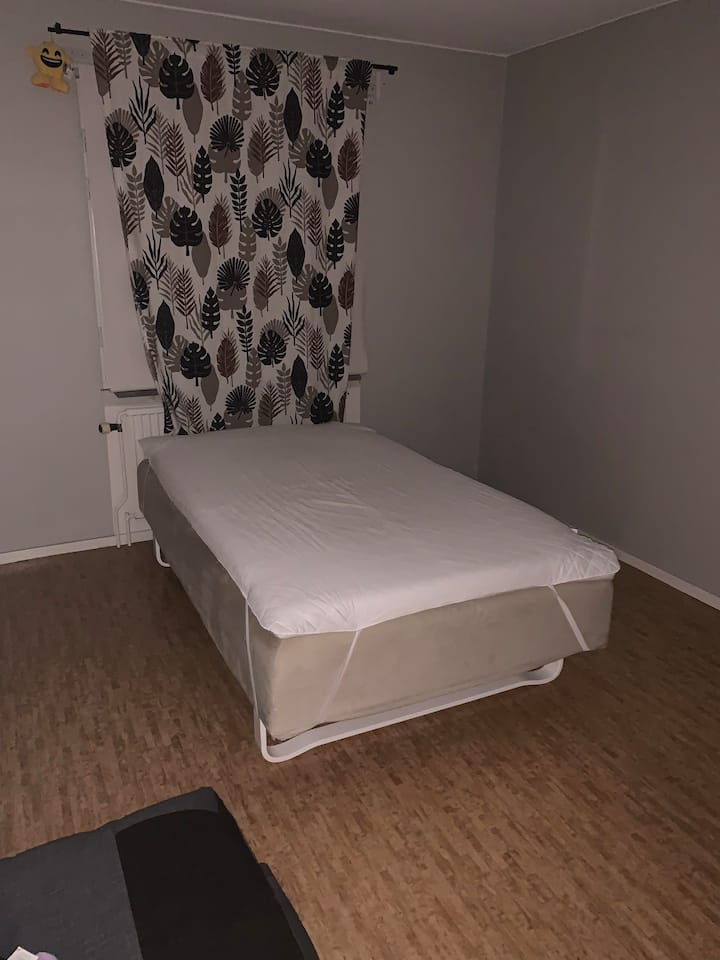 Comfortable spacious bed and privacy.