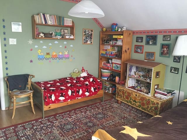 Two-person + kid bedroom in cosy familyhouse - Świdnica - House