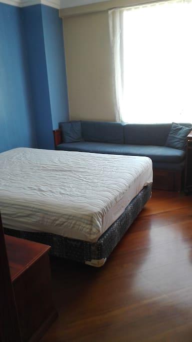 Habitacion para dos personas, mas un sofa cama