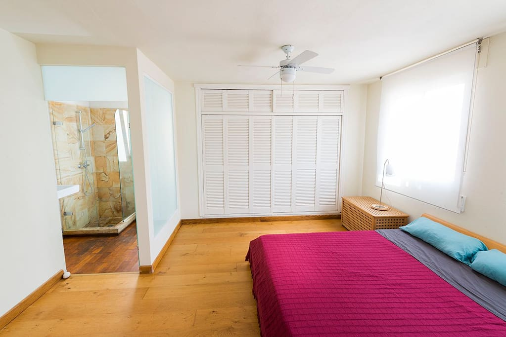 Main bedroom with private bathroom.
