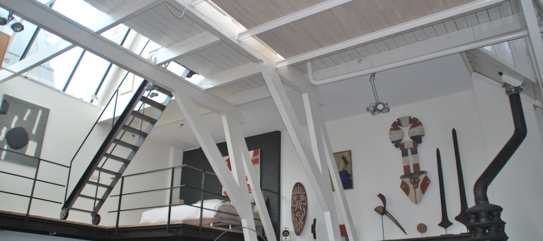 Spacious Loft Apartment Amsterdam 'The Pijp'