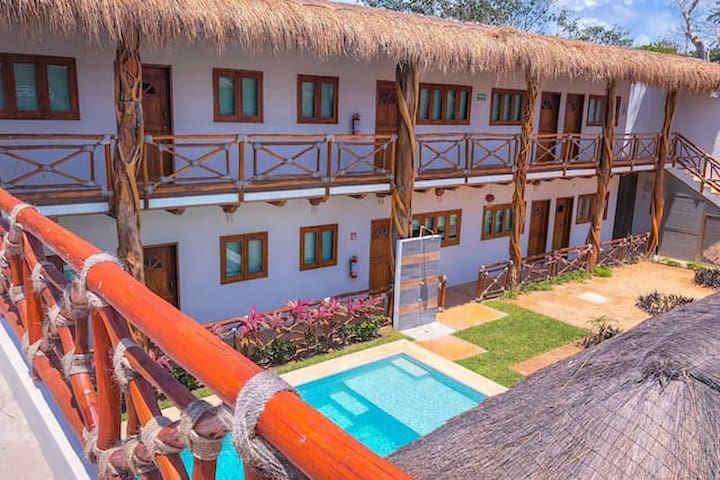 Double Room at Hotel Hacienda Dos Ojos 1
