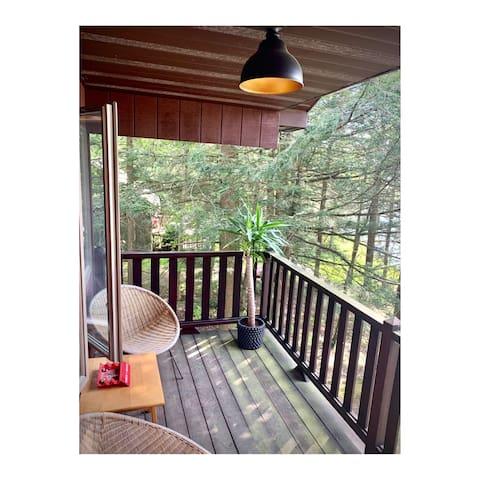 Private balcony off the Master