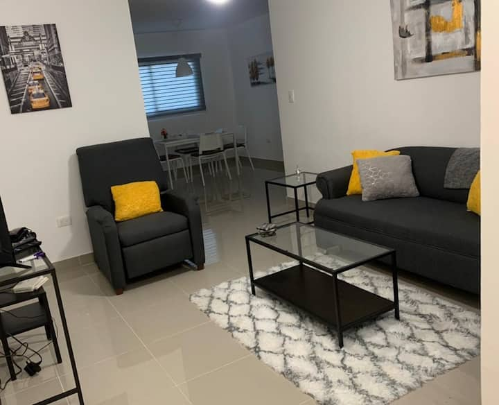 Brand new second floor apartment with AC and WIFI