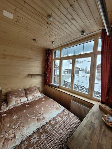 Small cocy Room with  big panorama Window