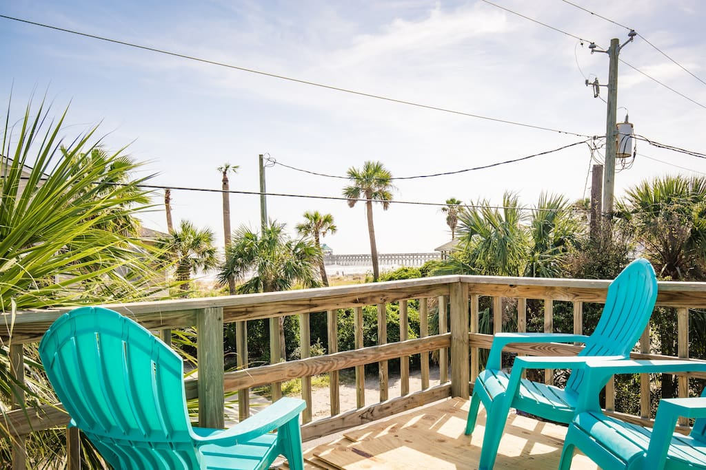 high tide ocean view top location houses for rent in folly beach south carolina united states. Black Bedroom Furniture Sets. Home Design Ideas
