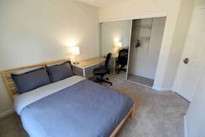 Laptop friendly private bedroom