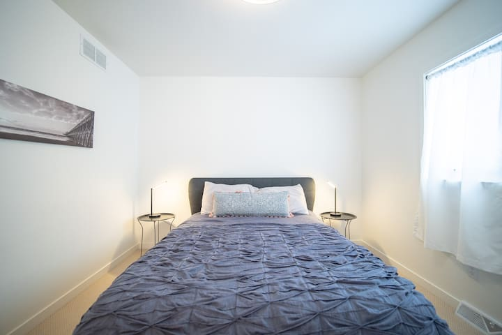 Mater Bedroom on Main Level with Plenty of Natural Light & Very Comfortable Memory Beds