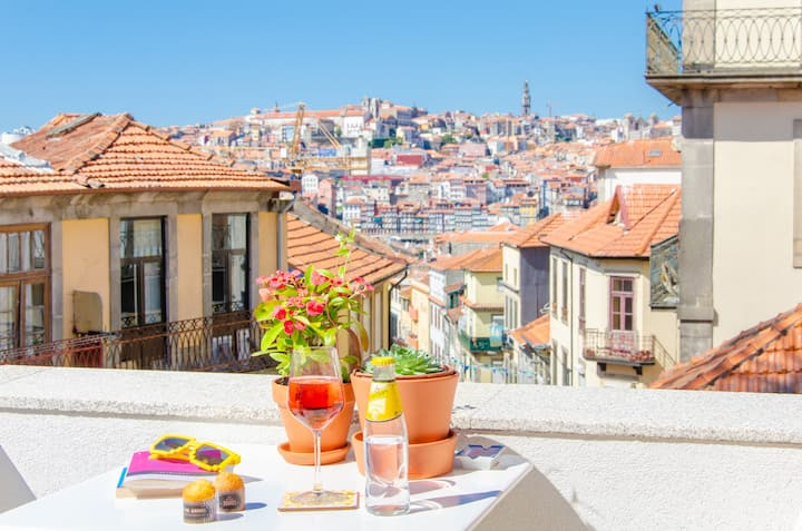 Best View of Porto ❤️ Romantic Terrace Penthouse