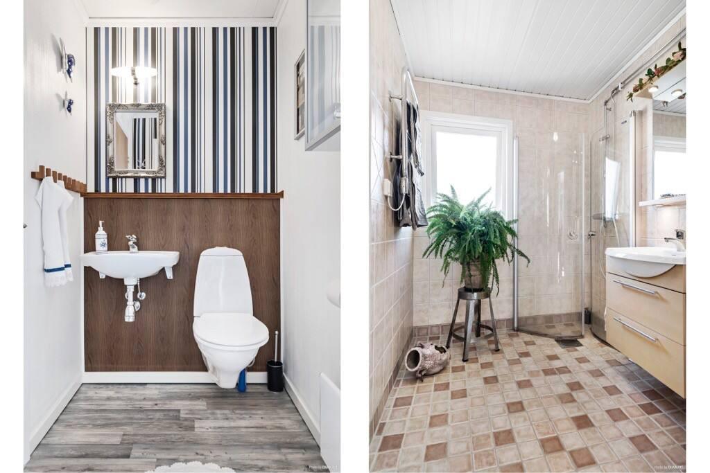 Toalett och dusch/toalett