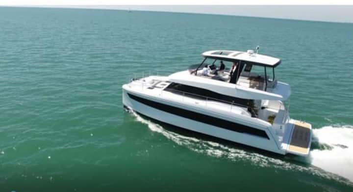 Luxury Yachting aboard 50 Ft Power Catamaran
