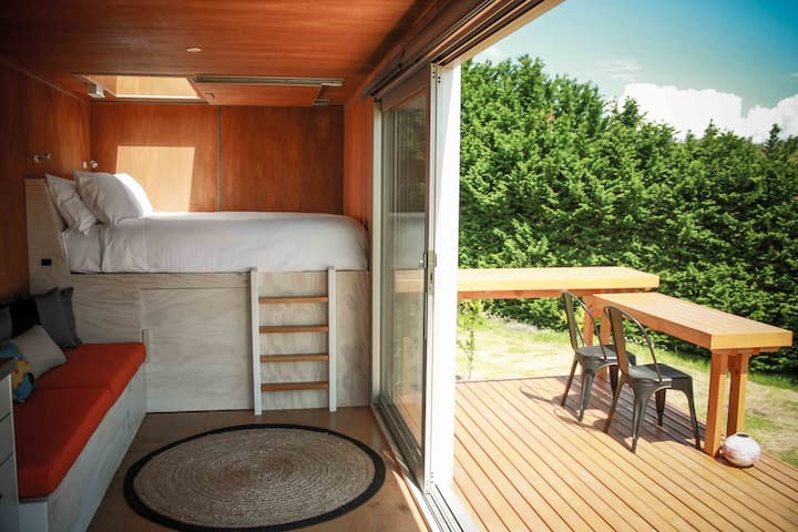 Glamping Under the Stars in a Shipping Container