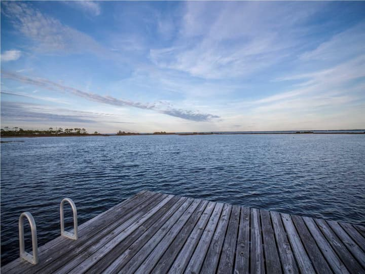 Bay Front Single Family Home with Dock & Screened Porch ~ Bay Song