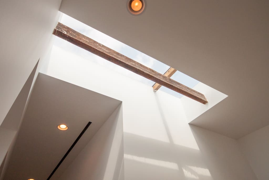 sky light above entryway