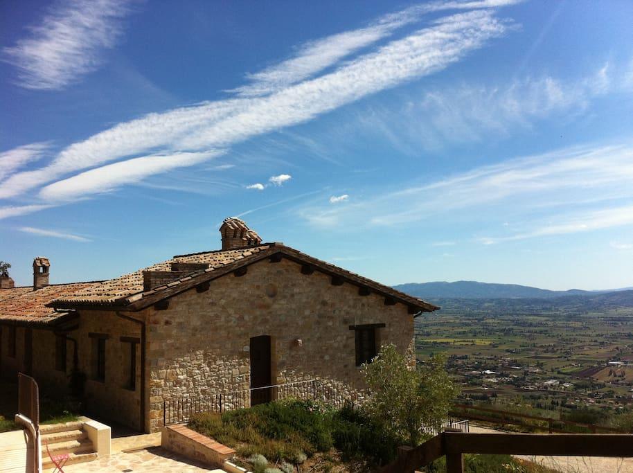 Panorama sulla Valle Umbra