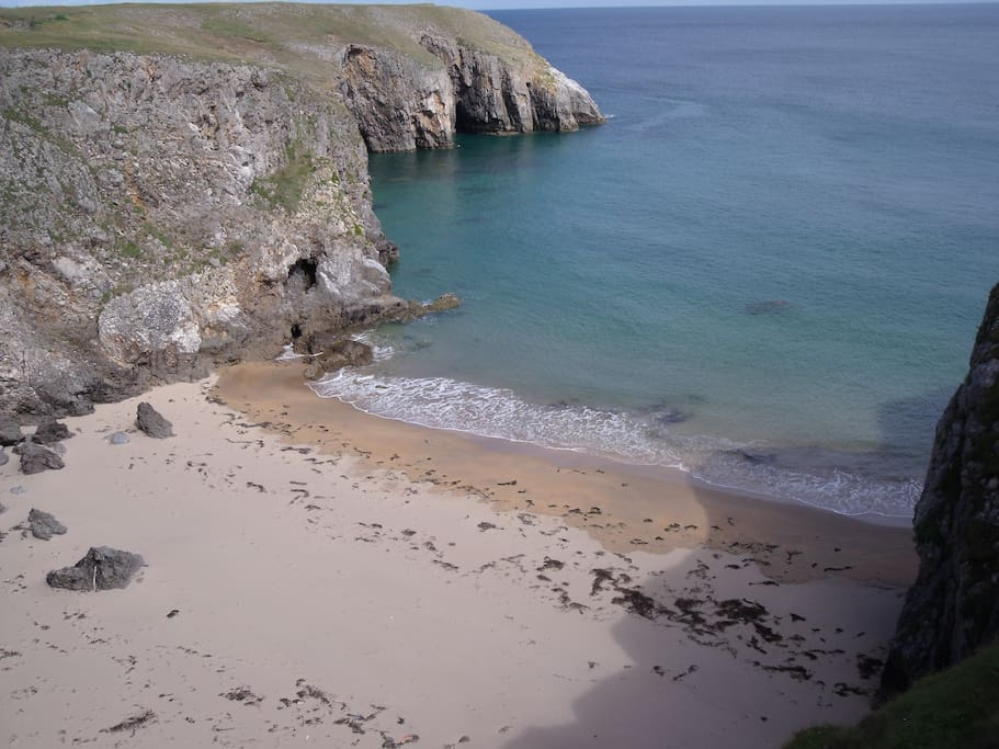 One of our local 'secret' beaches. Just a mile drive due south, and a (fair) walk across the headland.