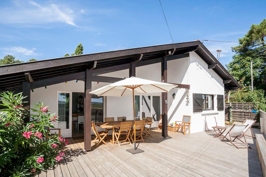 maison a louer cap ferret avec piscine - maison cabanon sur bassin presqu 39 le cap ferret maisons