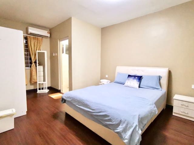 Master Bedroom with toilet attached (Air-cond & Fan)