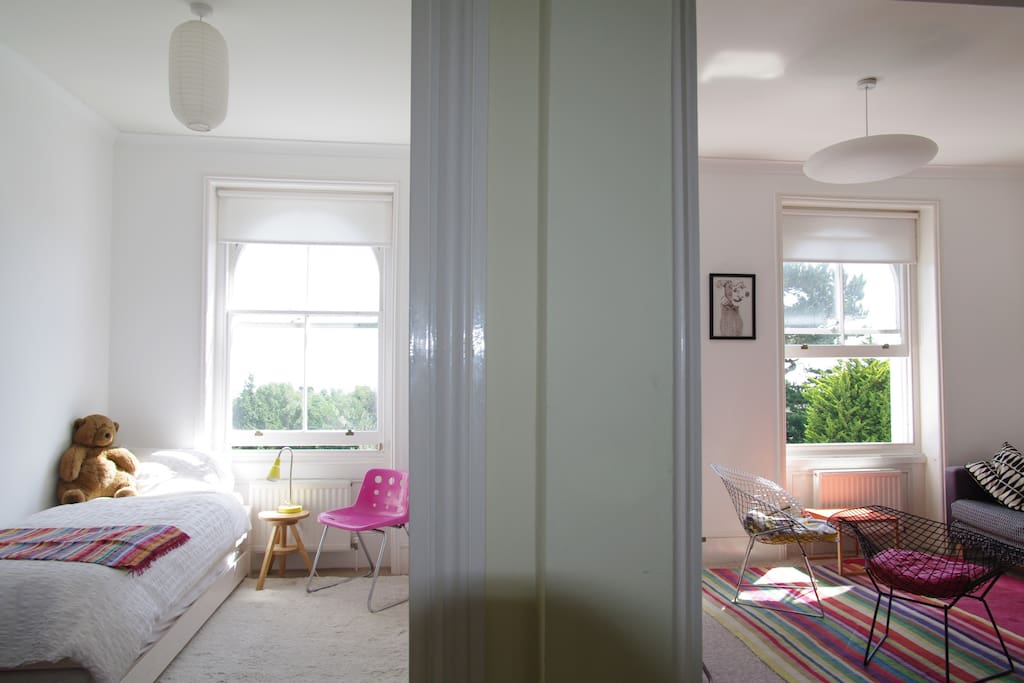 The flat is airy and light