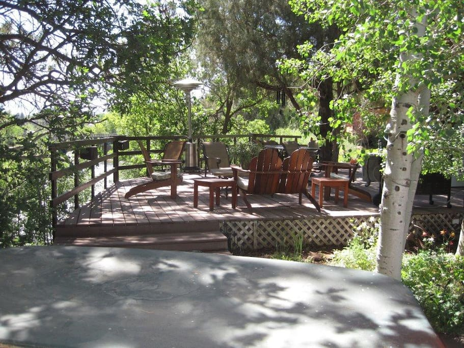 The deck has a great view of the river as well as views of Mt. Sopris