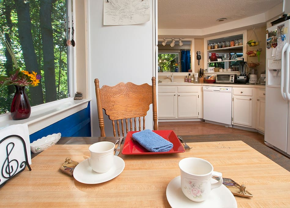 Many great conversations begin in this KITCHEN where meals are prepared and breakfast is served.
