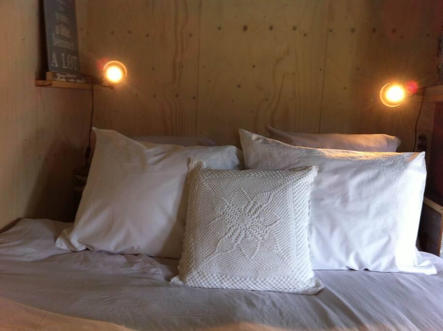 A good mattress and different pillows