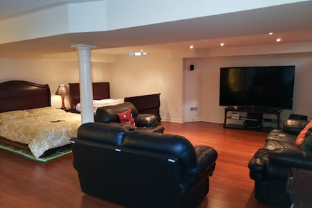 2 Beds basement apartment with separate entrance