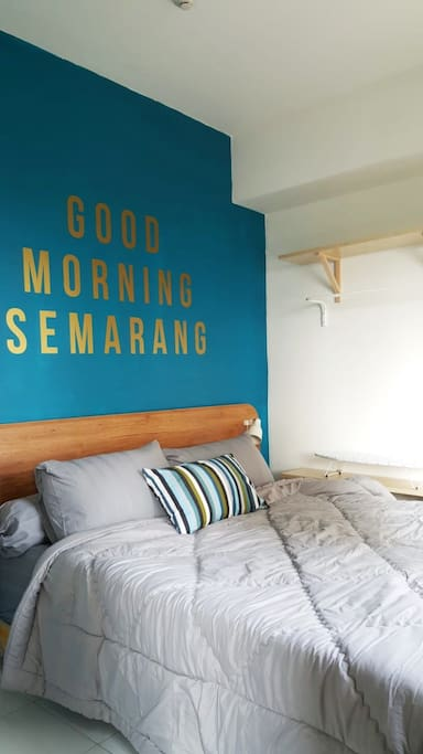 Master bedroom with queen bed  Welcome to Semarang