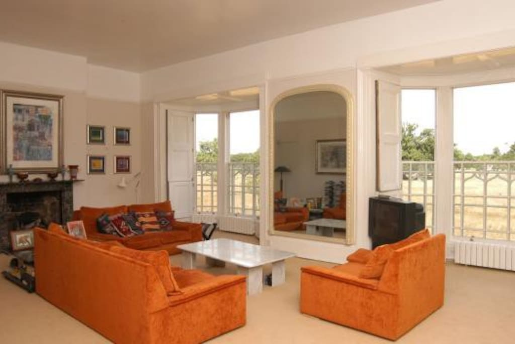 Lounge with stunning views over Bushy Park - (Note that the sofa has changed)