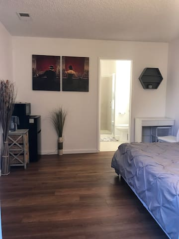 Private master bedroom with private entrance