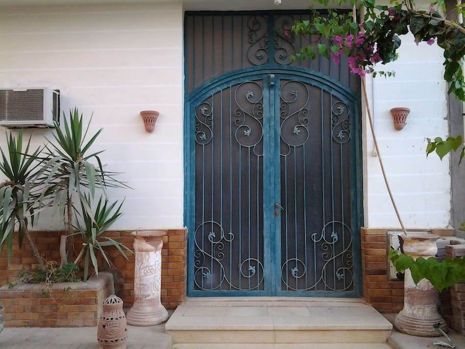 This is the entrance to Casa Dulce.