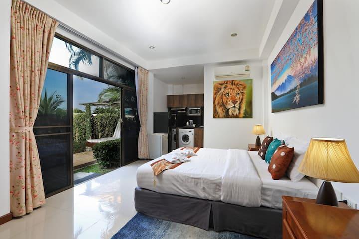 Studio-Apartments with a terrace ⛱Nai Harn Beach