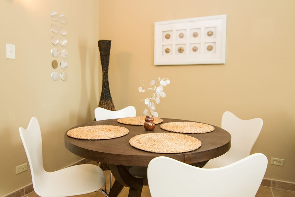 Comfortable dining room area