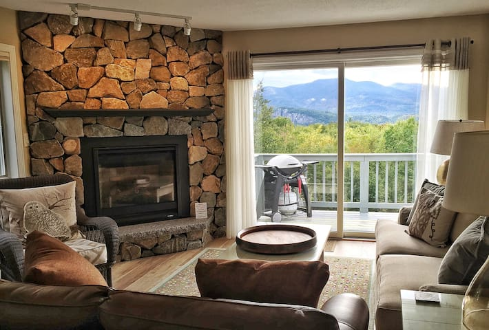Cozy Mtn House II Fireplace Deck AC Pool Fab Views - Intervale - Ortak mülk