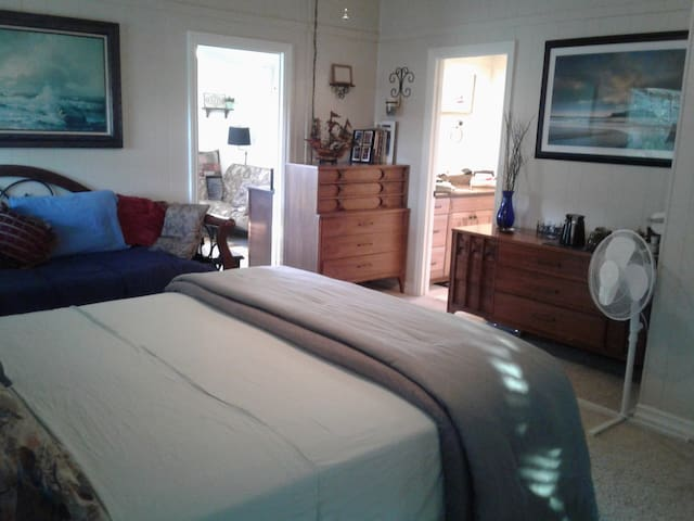Master Suite includes upgraded bathroom and   separate sitting area.