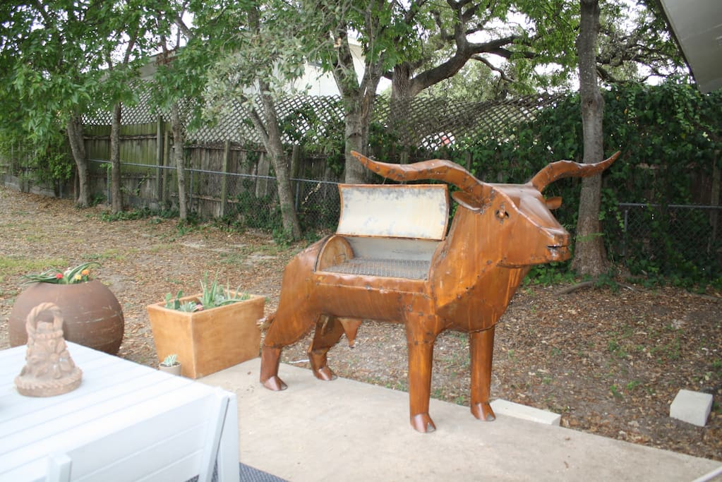 We hope you LOVE our Longhorn grill as much as we do! (this pic was before pool installed!)