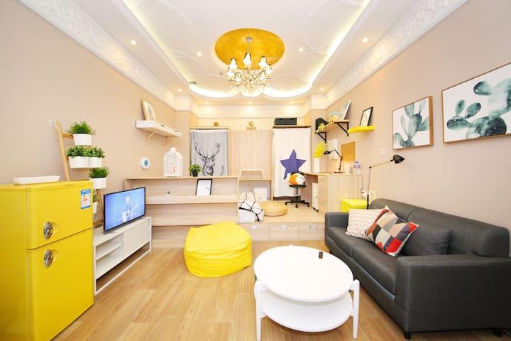 舒适如家 金水郑东新区·酒店公寓 宜家小清新风格主题房-B房型 - Zhengzhou Shi - Εξυπηρετούμενο διαμέρισμα