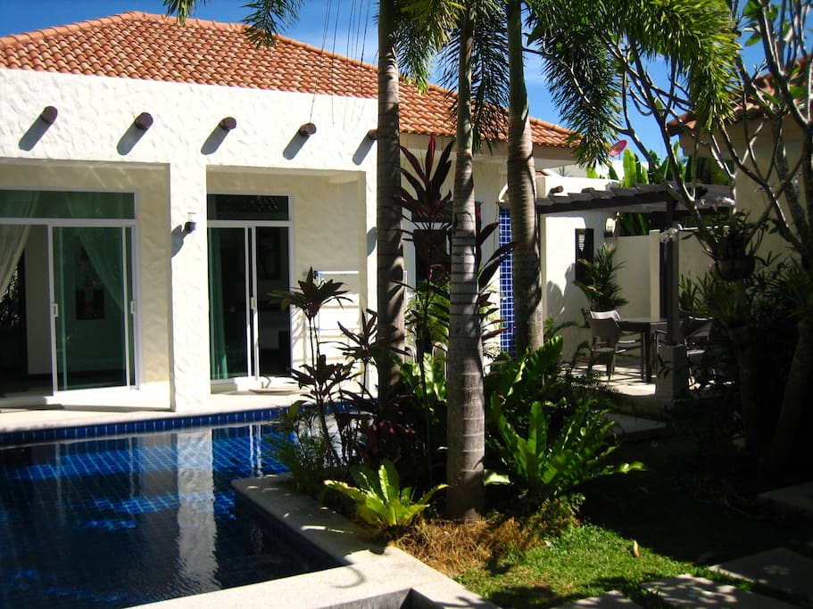 pool from entry gate