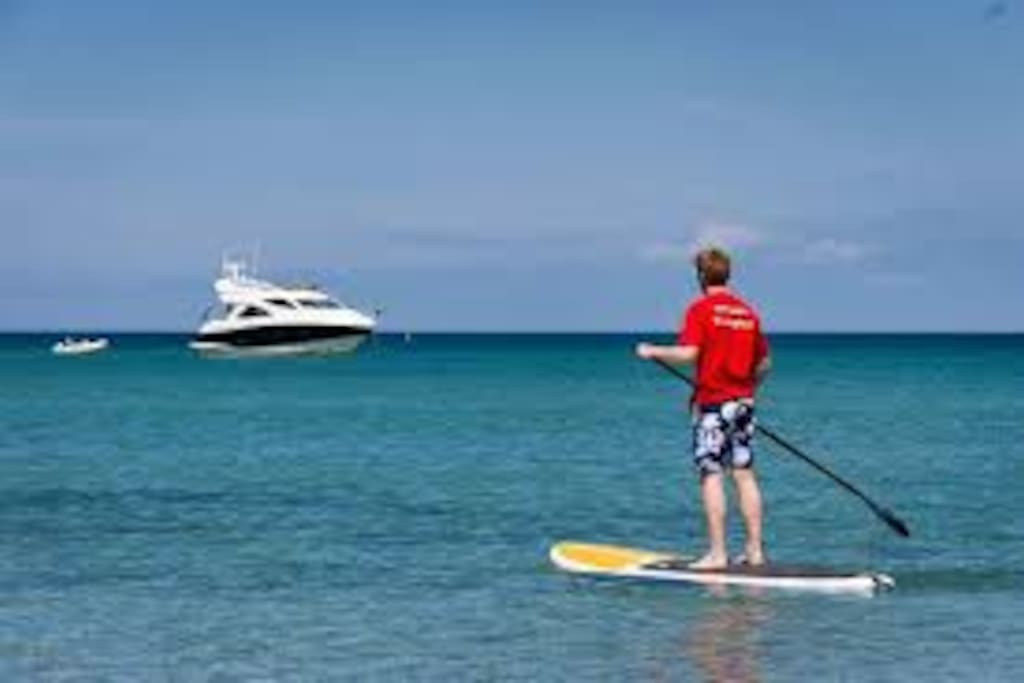 Water activities available on Carbis Bay beach