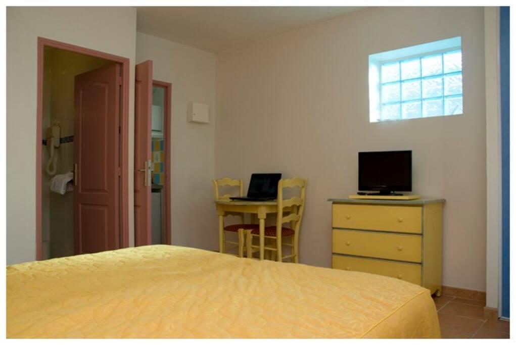 Studio avec salle de bain privée