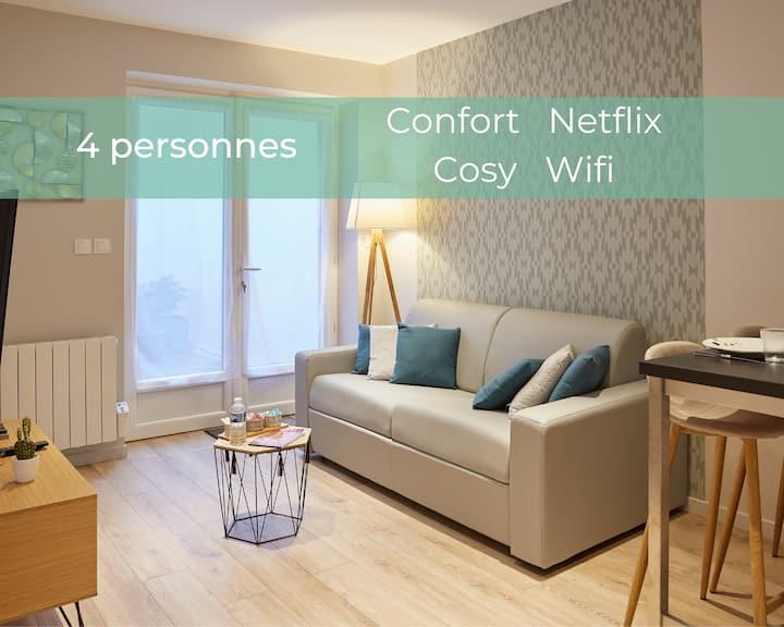 ★ Le Valmy***Centre-Netflix-Cosy-Wifi ★