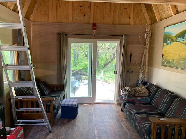 Truly unique! Rustic tiny cabin camping
