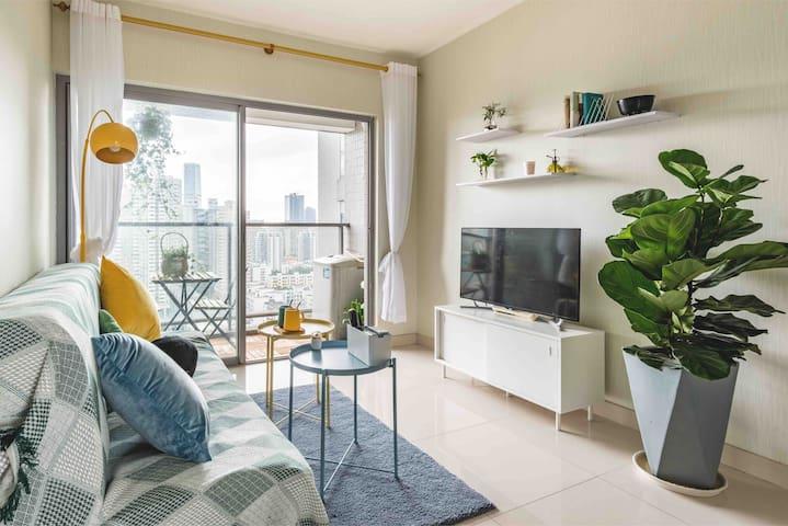 客厅,超棒视野,干净整洁