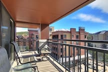 Enjoy fantastic views from your private balcony.