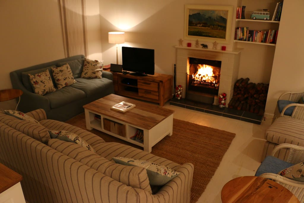 Cosy sitting room - cool in summer and warm in winter